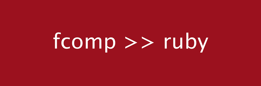 """Title image for """"Function composition >> Ruby"""""""